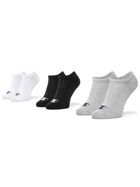 Champion Champion Комплект 3 чифта къси чорапи унисекс CH0008QI 8WU Бял