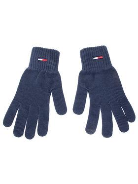 Tommy Jeans Tommy Jeans Pánské rukavice Tjm Basic Flag Rib Gloves AM0AM05217 Tmavomodrá