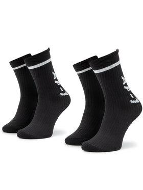 NIKE NIKE Lot de 2 paires de chaussettes hautes unisexe SK0136 010 Noir