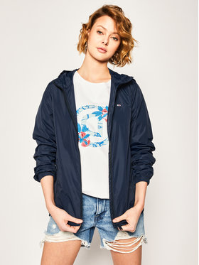 Tommy Jeans Tommy Jeans Giacca di transizione Tjw Chest Logo Windbreaker DW0DW08025 Blu scuro Regular Fit