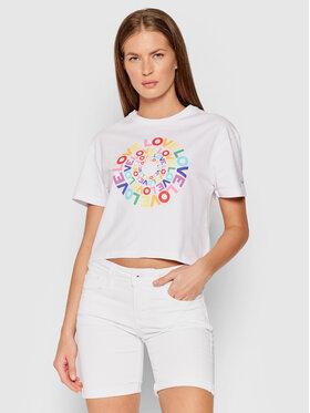 Pepe Jeans Pepe Jeans T-Shirt Marsha PL504502 Bílá Regular Fit