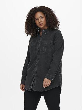 ONLY Carmakoma ONLY Carmakoma Τζιν πουκάμισο Mikka 15242396 Μαύρο Regular Fit