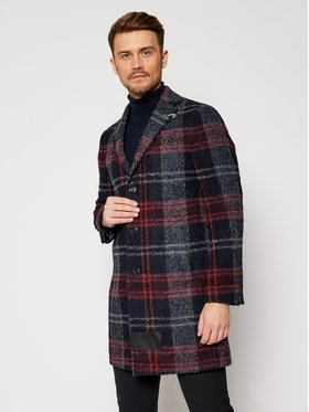 Baldessarini Baldessarini Vlnený kabát Duncan 18654/8665/4304 Tmavomodrá Modern Fit