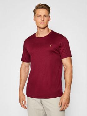 Polo Ralph Lauren Polo Ralph Lauren T-Shirt 710740727014 Bordowy Custom Slim Fit
