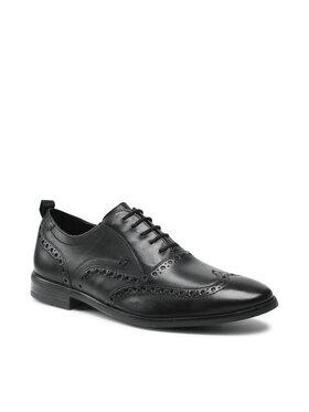 Clarks Clarks Κλειστά παπούτσια StanfordBrogue 26161169 Μαύρο