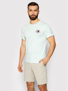 Tommy Hilfiger Tommy Hilfiger T-Shirt Circle MW0MW17680 Zielony Regular Fit