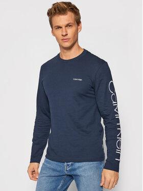 Calvin Klein Calvin Klein Longsleeve Logo K10K107156 Granatowy Regular Fit