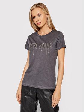Pepe Jeans Pepe Jeans T-Shirt Debo PL504997 Grau Regular Fit