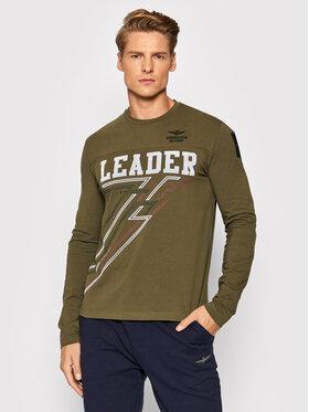 Aeronautica Militare Aeronautica Militare Тениска с дълъг ръкав 212TS1905J523 Зелен Regular Fit