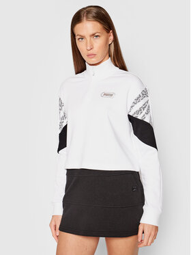Puma Puma Sweatshirt Rebel Half-Zip Crew 585755 Weiß Relaxed Fit