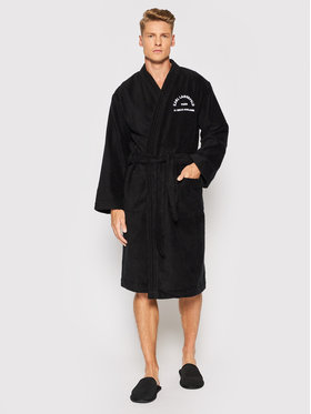 KARL LAGERFELD KARL LAGERFELD Robe de chambre Unisex Address Logo 215M2180 Noir