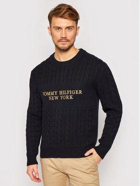 TOMMY HILFIGER TOMMY HILFIGER Пуловер Graphic Cable MW0MW15460 Черен Regular Fit