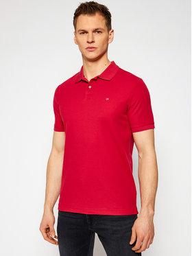 Calvin Klein Calvin Klein Тениска с яка и копчета Refined Pique Logo K10K102758 Червен Slim Fit