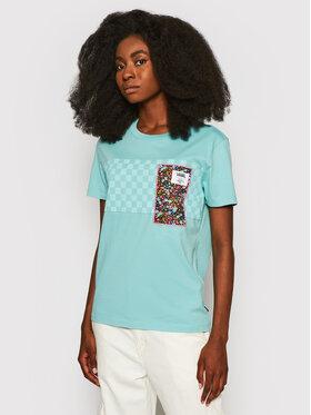 Vans Vans T-shirt Classic VN0A5FSE Bleu Boyfriend Fit