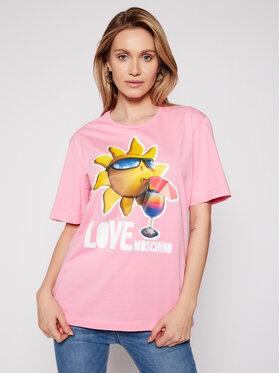 LOVE MOSCHINO LOVE MOSCHINO Marškinėliai W4F8739M 3876 Rožinė Regular Fit