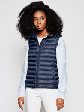 Tommy Hilfiger Tommy Hilfiger Vesta Th Ess Lw Down Vest WW0WW30841 Tmavomodrá Regular Fit