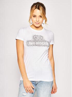 LOVE MOSCHINO LOVE MOSCHINO Tricou W4F7360E 1698 Alb Regular Fit