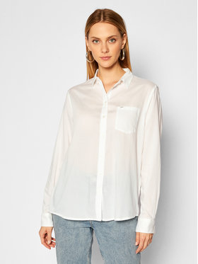 Lee Lee Hemd One Pocket L45TGFRR Weiß Relaxed Fit