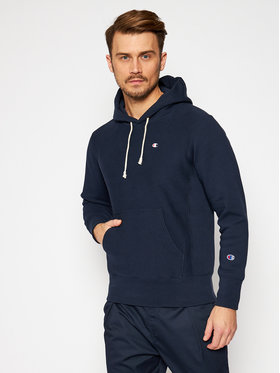 Champion Champion Felpa Logo 215214 Blu scuro Custom Fit