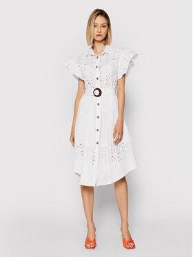 Rinascimento Rinascimento Sukienka koszulowa CFC0017915002 Biały Regular Fit