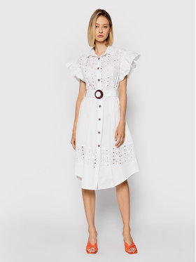 Rinascimento Rinascimento Vestito chemisier CFC0017915002 Bianco Regular Fit