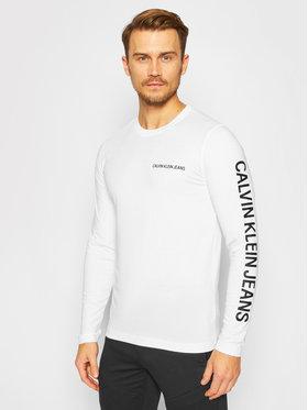Calvin Klein Jeans Calvin Klein Jeans Marškinėliai ilgomis rankovėmis J30J316884 Balta Regular Fit
