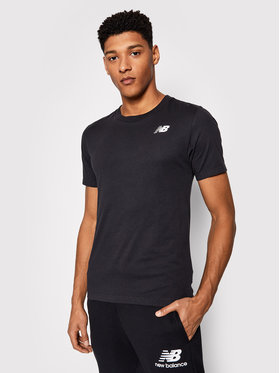 New Balance New Balance Marškinėliai NBMT1198 Juoda Slim Fit