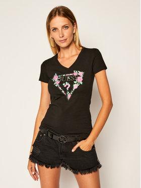 Guess Guess T-Shirt Britney W0YI85 J1300 Černá Slim Fit
