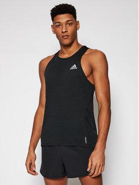 adidas adidas Koszulka techniczna Runner Singlet GN2164 Czarny Relaxed Fit