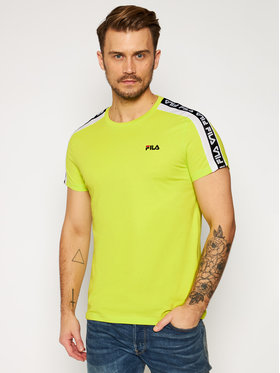Fila Fila Marškinėliai Thanos 687700 Žalia Regular Fit