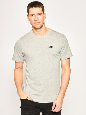 Nike Nike T-Shirt Sportswear Club AR4997 Szary Standard Fit