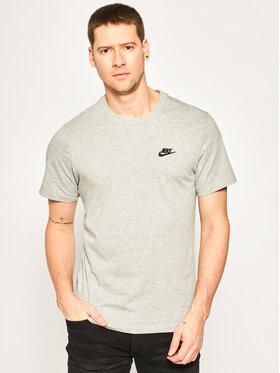 Nike Nike Тишърт Sportswear Club AR4997 Сив Standard Fit