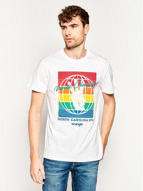 Wrangler Wrangler T-shirt Bloge W7D9FK989 Blanc Regular Fit