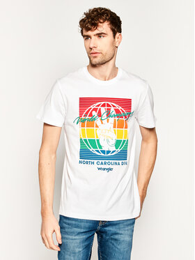 Wrangler Wrangler T-Shirt Bloge W7D9FK989 Weiß Regular Fit