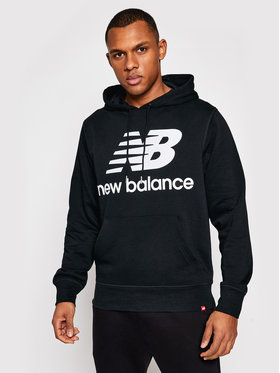 New Balance New Balance Sweatshirt Essentials Stacked Logo Po MT03558 Schwarz Athletic Fit