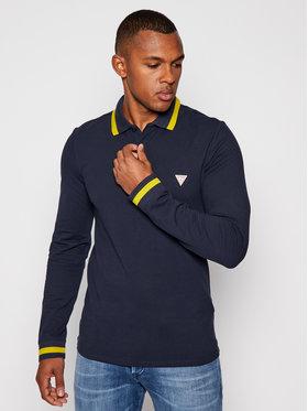 Guess Guess Polo marškinėliai M0BP58 K7O61 Tamsiai mėlyna Slim Fit