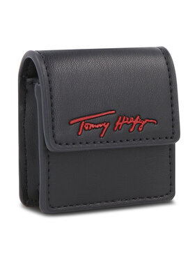 Tommy Hilfiger Tommy Hilfiger Custodia per auricolari Iconic Tommy Earphone Case Sign AW0AW10847 Blu scuro