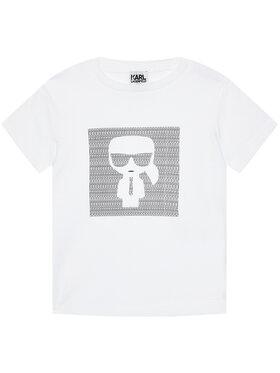 KARL LAGERFELD KARL LAGERFELD T-Shirt Z25277 S Biały Regular Fit