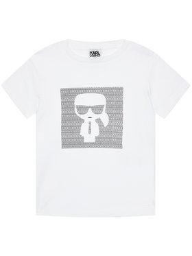 KARL LAGERFELD KARL LAGERFELD T-shirt Z25277 S Blanc Regular Fit