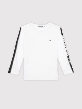 Calvin Klein Jeans Calvin Klein Jeans Blusa Institutional Spray IB0IB00896 Bianco Regular Fit