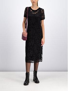 My Twin Koktejlové šaty 192MP2490 Čierna Regular Fit