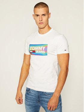 Tommy Jeans Tommy Jeans Tricou Tjm Stretch Tee DM0DM09480 Alb Regular Fit