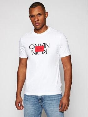 Calvin Klein Calvin Klein Тишърт Text Reversed Logo K10K106489 Бял Regular Fit