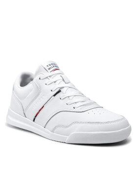 Tommy Hilfiger Tommy Hilfiger Sportcipő Lightweight Sneaker Lea Stripe FM0FM03729 Fehér