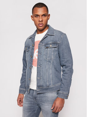 Lee Lee Giacca di jeans Rider L89RNKUQ Blu scuro Slim Fit
