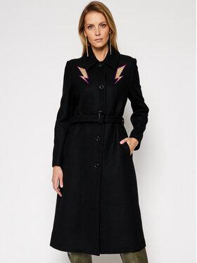 LOVE MOSCHINO LOVE MOSCHINO Prechodný kabát WK50101T 008A Čierna Regular Fit
