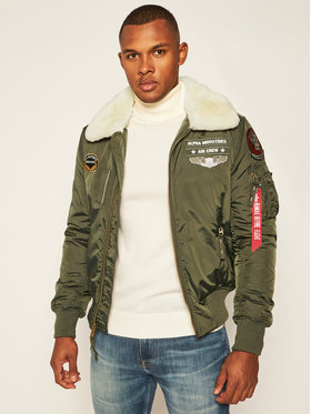 Alpha Industries Alpha Industries Bomber Injector III Air Force 198113 Verde Slim Fit