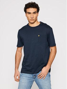 Lyle & Scott Lyle & Scott T-Shirt Pocket TS1364V Granatowy Relaxed Fit