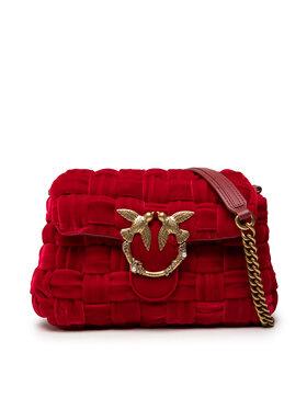 Pinko Pinko Borsetta Love Mini Puff Weave Je Cl. Intreccio Velluto AI 21-22 PLTT 1P22GC Y7GN Rosso