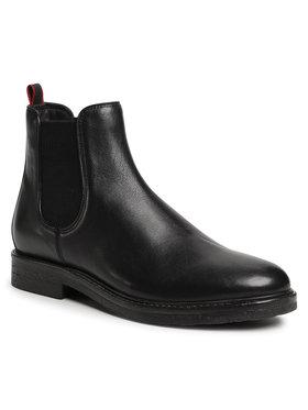 Gino Rossi Gino Rossi Kotníková obuv s elastickým prvkem MB-HAVR-01 Černá